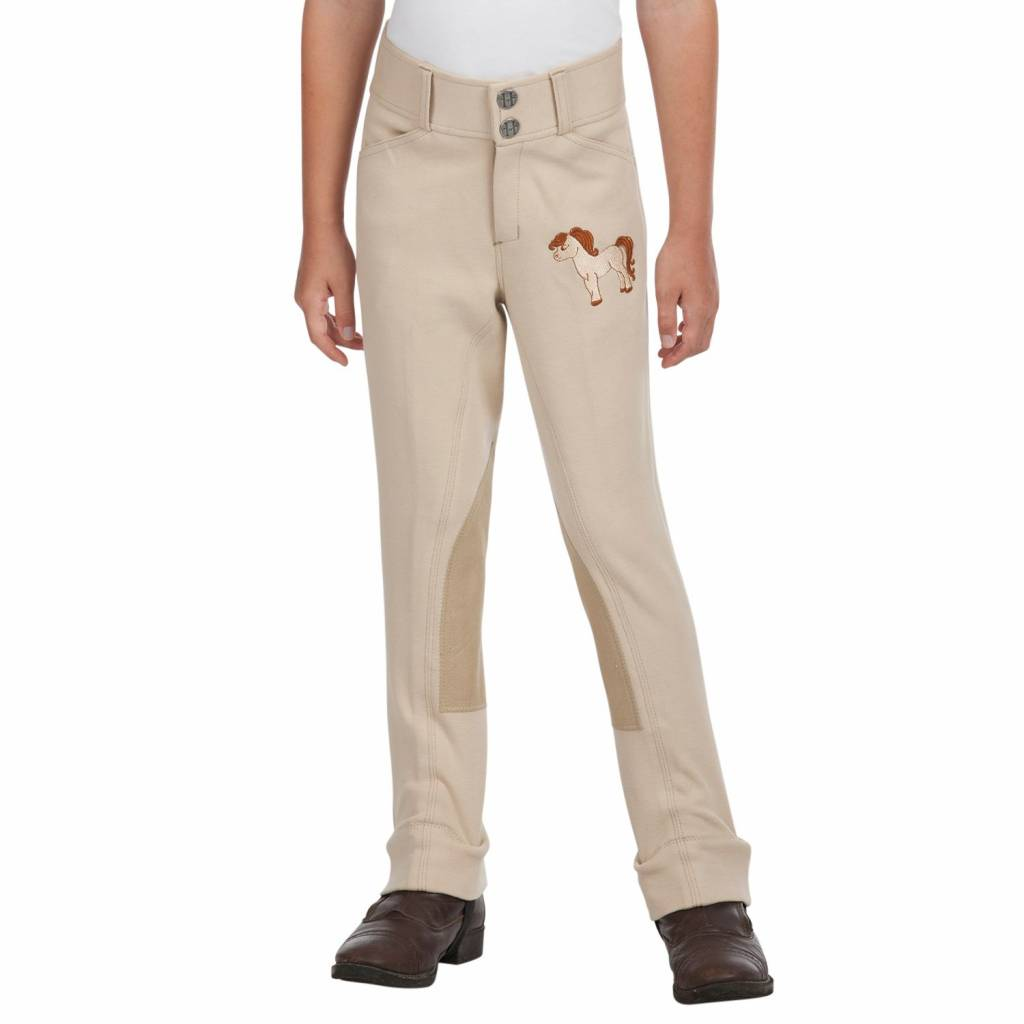 Daisy Clipper Riding Pant with Pony Embroidery - Kids