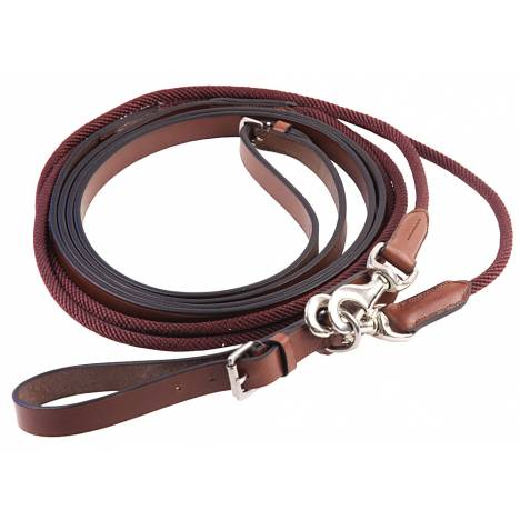 Henri de Rivel Rounded Nylon / Leather Snap Draw Reins