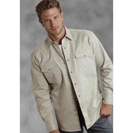 Roper Amarillo Twill Shirt - Mens, Taupe