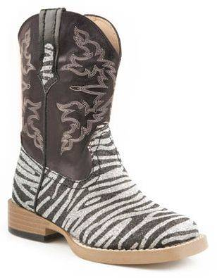 Roper Faux Leather Square Toe Print Boots - Infant