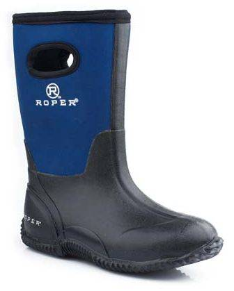 Roper Tall Neoprene Barn Boot - Girls, Blue