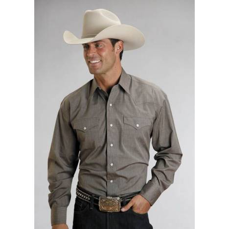 Stetson Long Sleeve Cotton Shirt - Mens, Brown