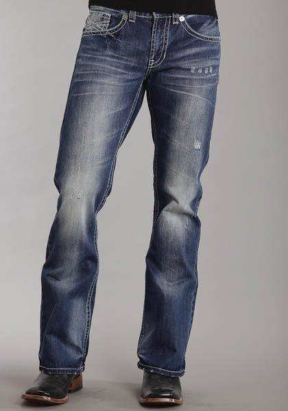 Stetson Modern Fit Jeans - Mens, Dark Navy Wash