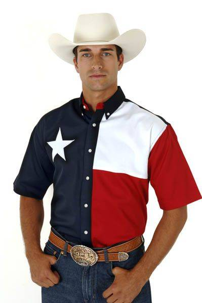 Roper Texas Flag Shirt - Mens, Short Sleeve
