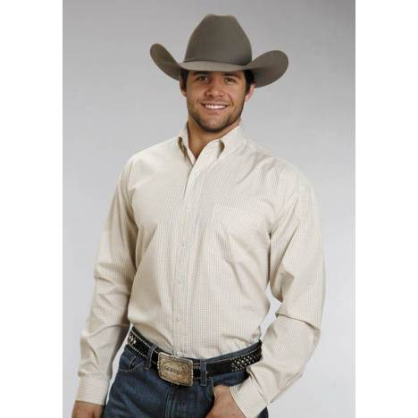 Stetson Button Down - Mens, Long Sleeve, Yellow Check