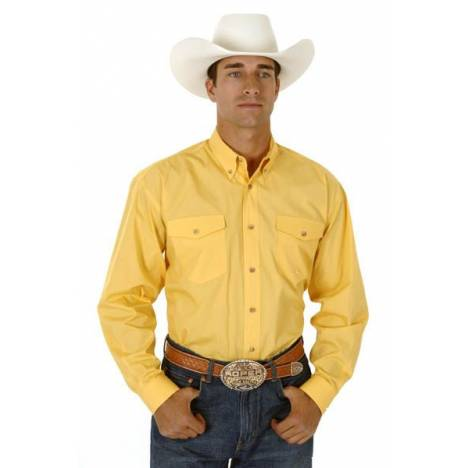 Roper Poplin Shirt - Mens, Long Sleeve, Yellow
