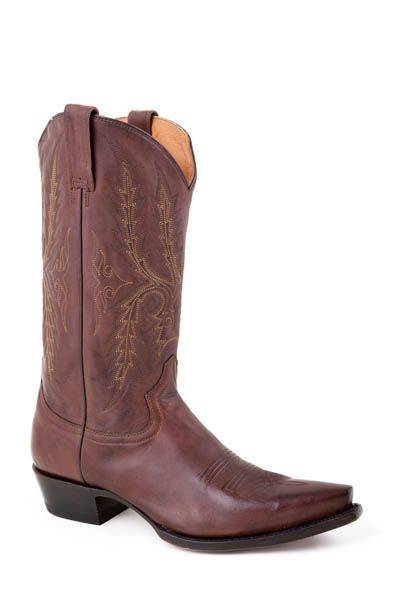 Stetson Snip Toe Stack Heel Boots - Mens