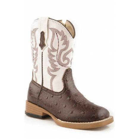 Roper Faux Leather Bumps Western Boots - Infants, Brown