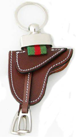 LILO La Espuela Montura Saddle Leather Key Ring