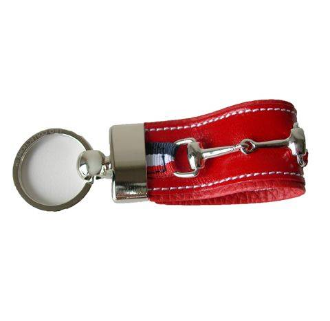 LILO La Espuela Zonza Bit Stripe Leather Key Ring