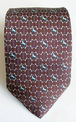 LILO Bit Links and Horses Equestrian Silk Neck Tie
