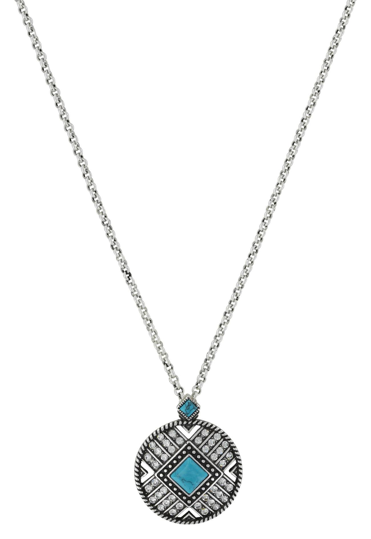 Montana Silversmiths Rock 47 Points Of Aztec Stone Sun Necklace