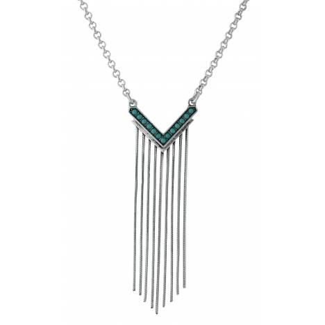 Rock 47 By Wrangler Retro Flair Rhinestone And Icicle Fringe Necklace