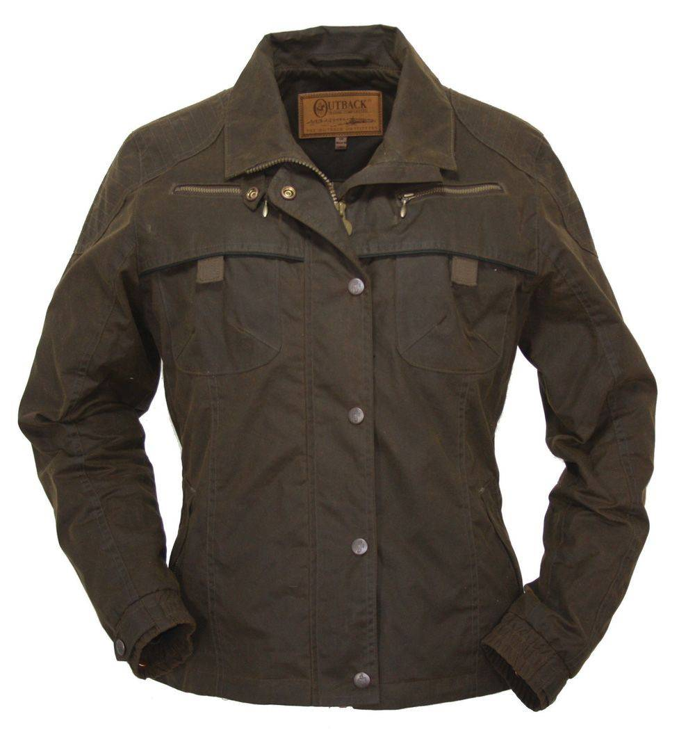 Outlet - Outback Oilskin Sheilas Delight Jacket - Ladies, Small, Bronze