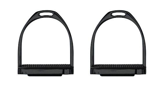 Perris Black Powder Coated Stirrup Irons