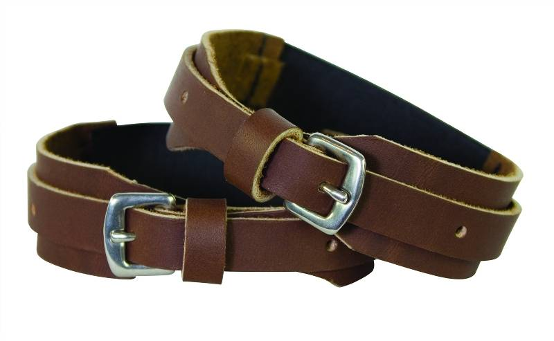 Kids Leather Hook & Loop Closure Garter Straps