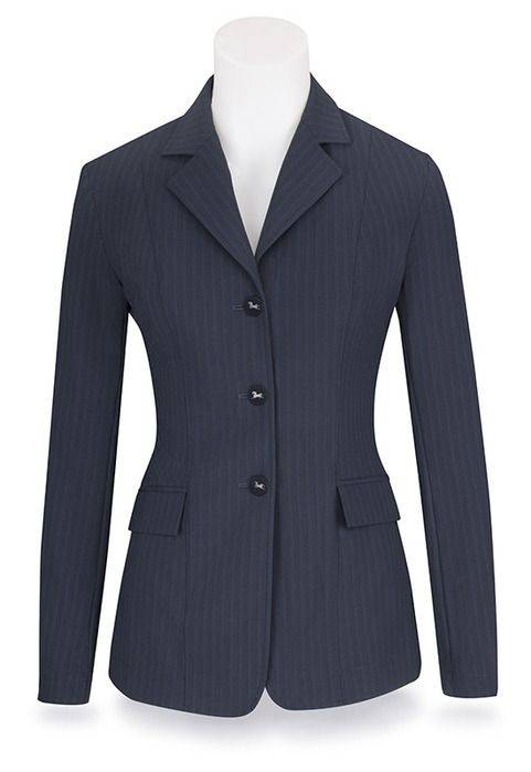 RJ Classics Extreme Softshell Show Coat - Ladies, Navy Stripe