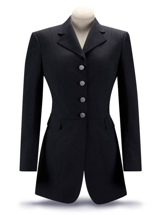 RJ Classics Essential Washable Dressage Coat -Ladies, Black