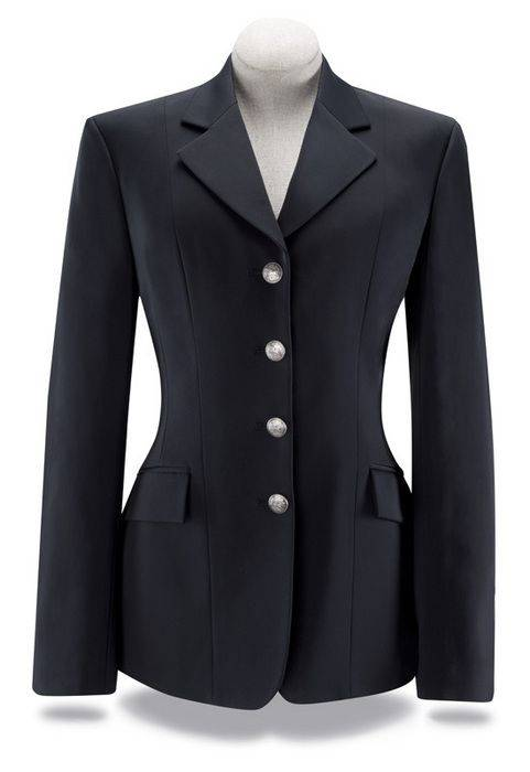 RJ Classics Xtreme Crossover Coat with Silver Buttons - Ladies, Black