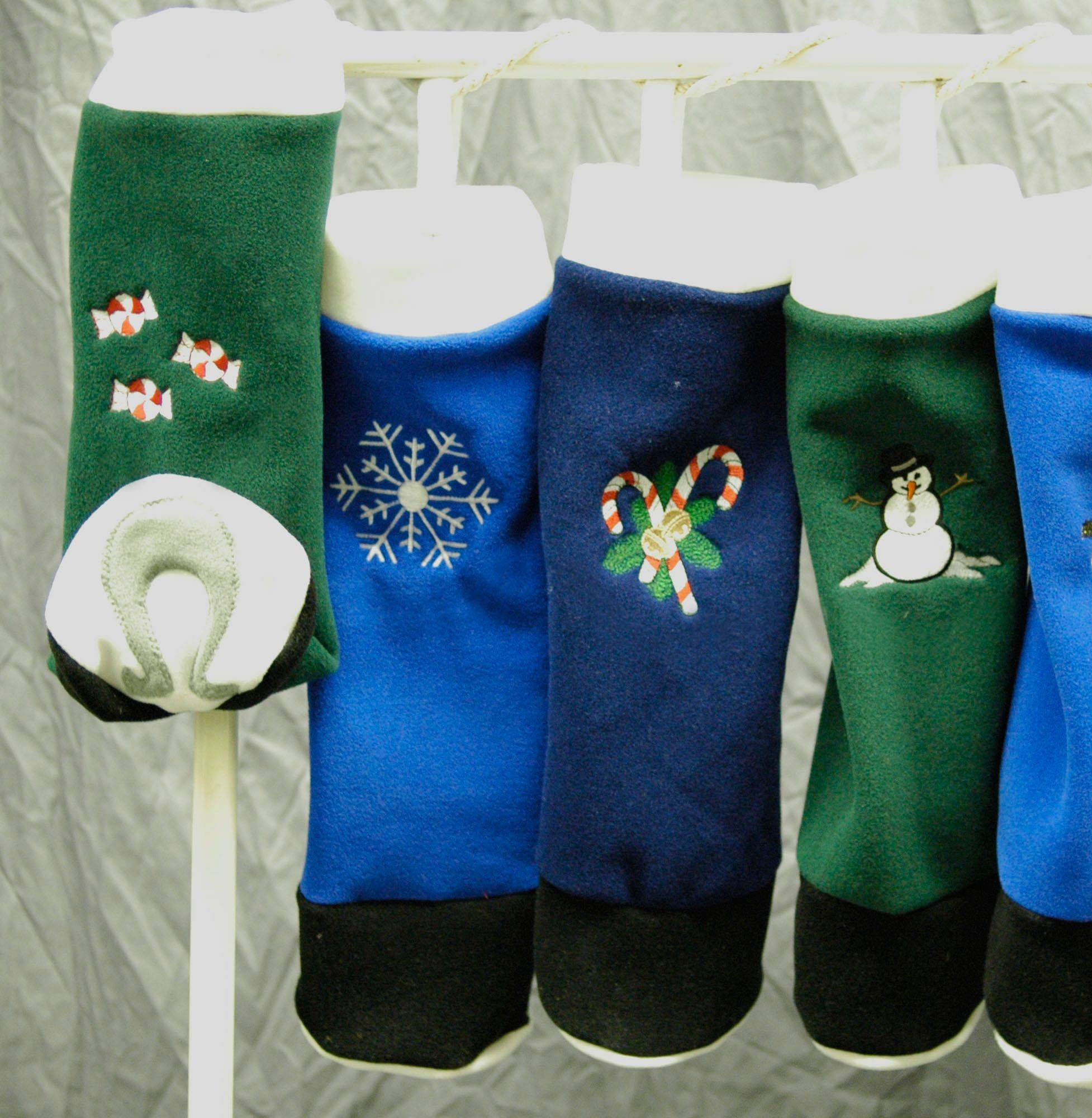 Saratoga Horseworks Christmas Hoof Stockings