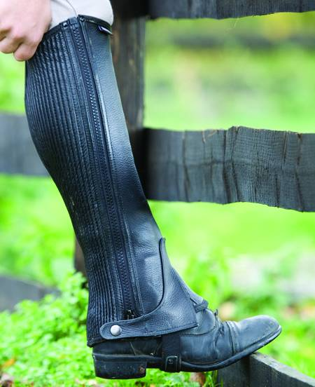 Shires Leather Half Chaps - Adult