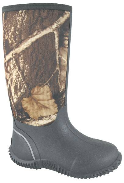 "Smoky Boots Camo Amphibian 12"" Boots - Youth, Brown/Camo"