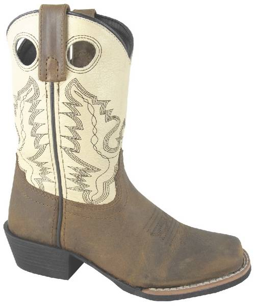 Smoky Mountain Mesa Leather Western Boots - Kids, Black