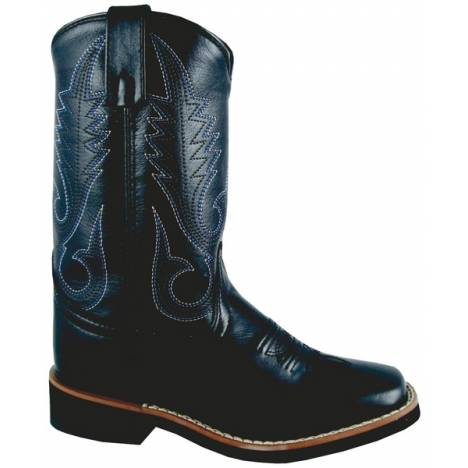 Smoky Boots Judge Square Toe Boots - Youth, Black
