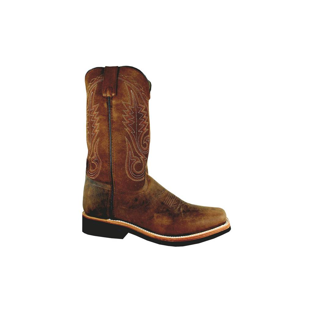 Smoky Boots Boonville Square Toe Boots - Men,Distressed Brown