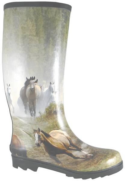 Smoky Mountain Ladies Running Horses Rubber Boots