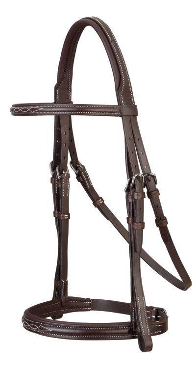 Stubben Fancy Stitch Anthracite Flash Snaffle Bridle
