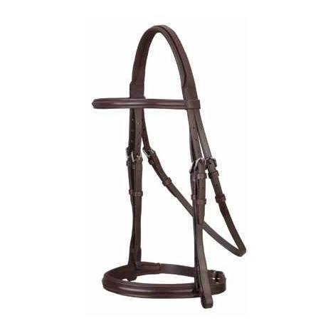 Stubben Cut Crown Anthracite Padded Snaffle Bridle with Flash