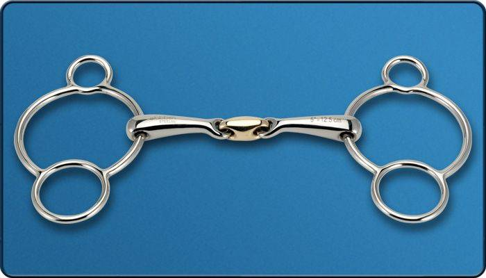 Stubben 3 Ring Gag Bit with Sweet Copper Link
