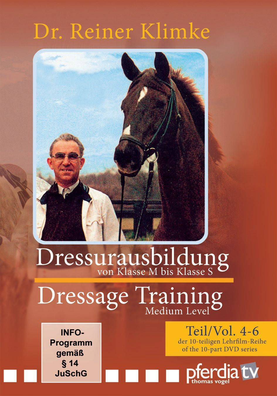 Dressage Training, From Medium to Advanced Levels DVD Voumes 4-6 with Dr Reiner Klimke