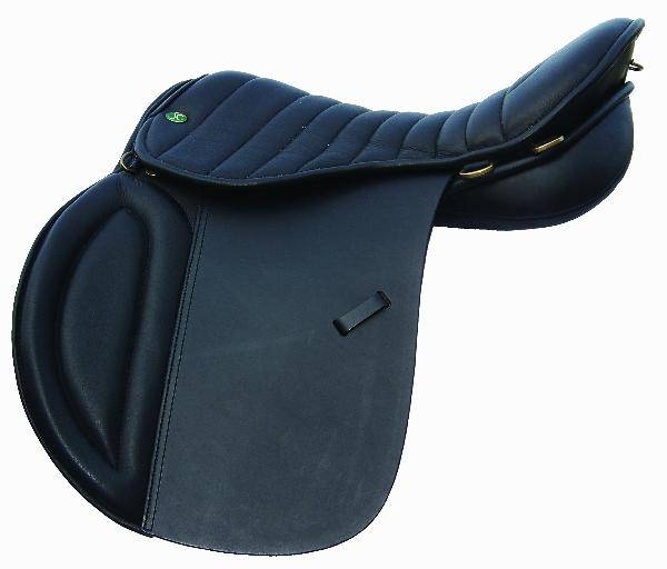 Outlet - Jorge Canaves Trail Saddle, 18'' X-Wide, Black