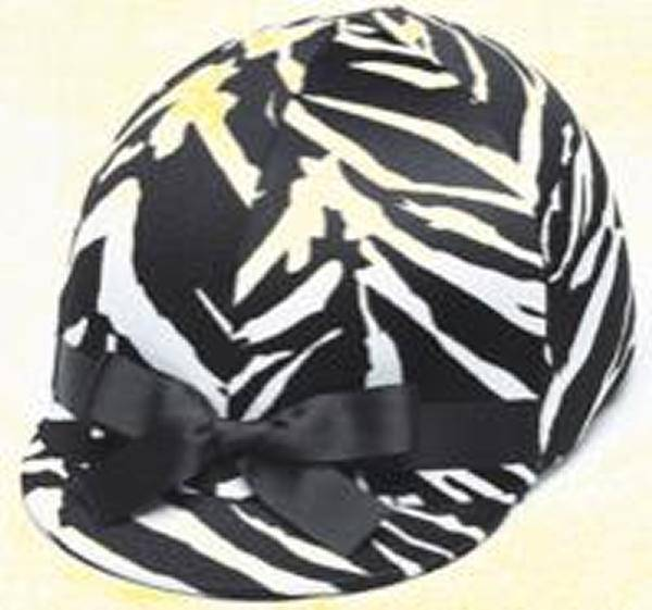 Helmet Helpers Pocket Helmet Cover - Zebra Print