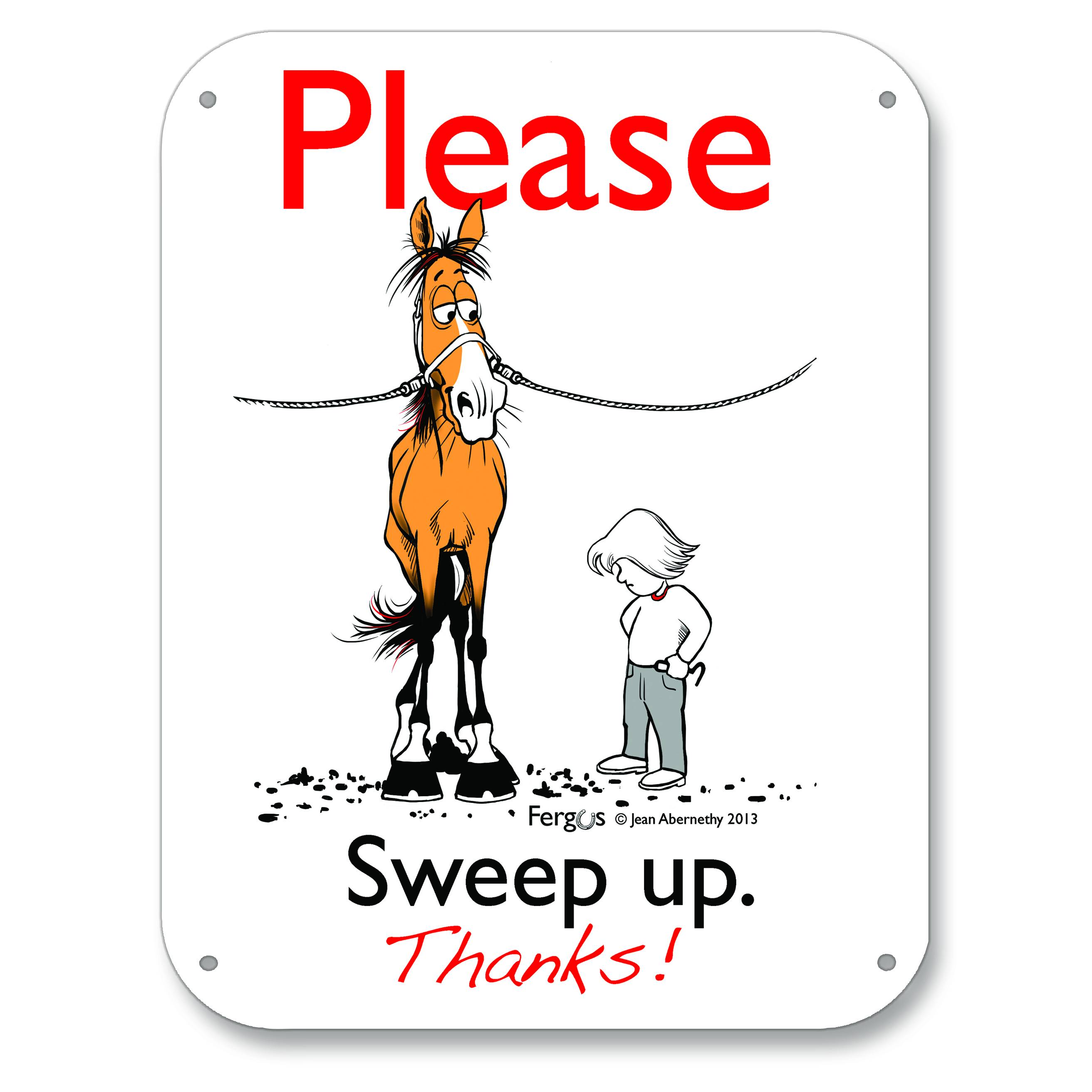 Kelley Fergus ''Sweep Up'' Barn Sign