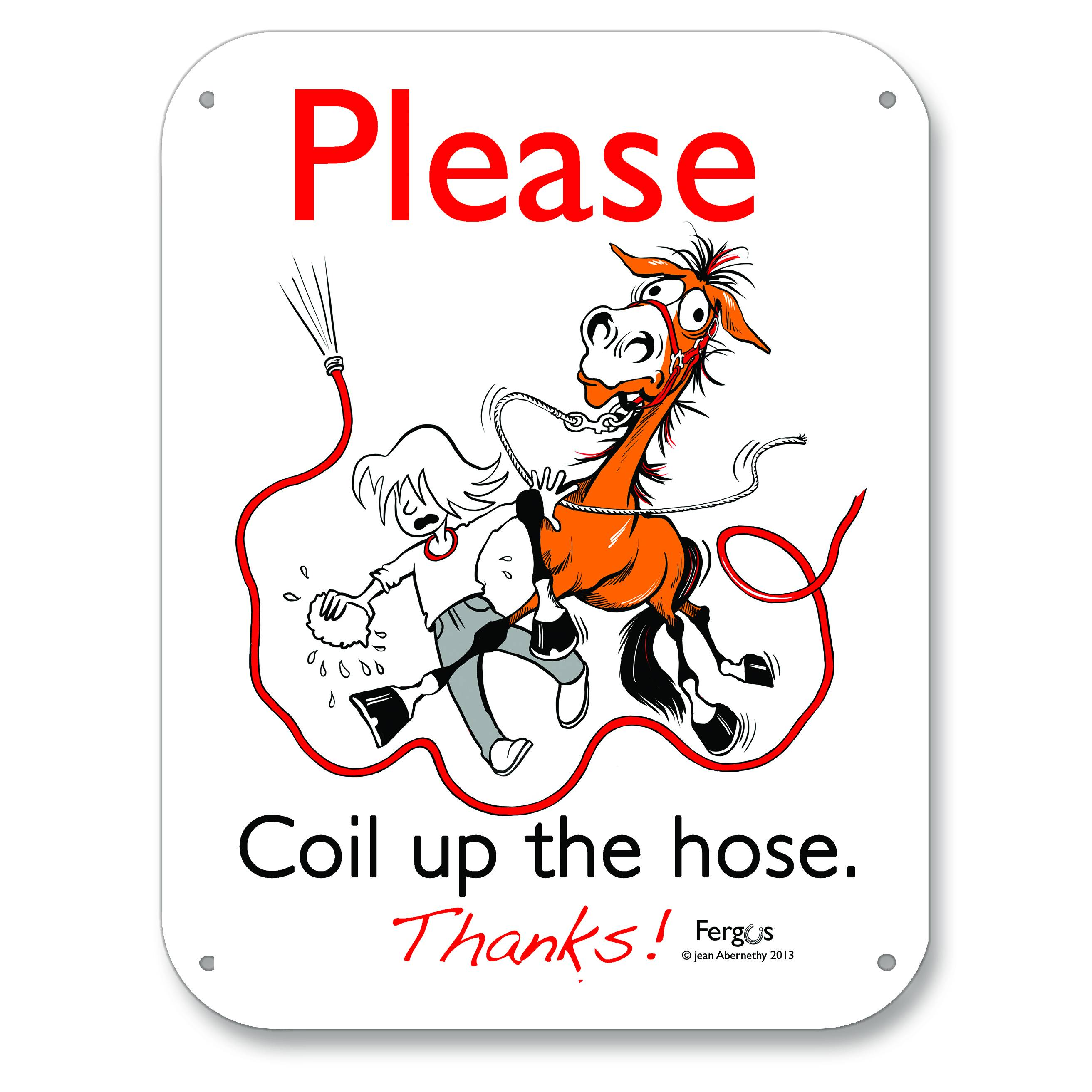 Kelley Fergus ''Coil The Hose'' Barn Sign