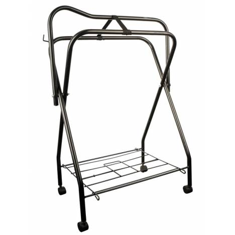 Roma Standing Saddle Rack with Rollers