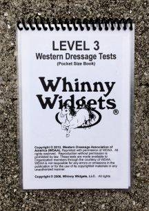 Whinny Widgets 2015 Western Dressage Test Book - Level 3