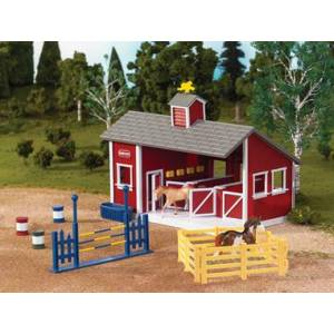Breyer Stablemates Red Stable Set