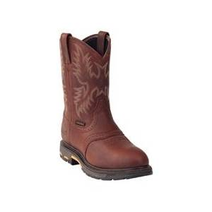 Ariat Mens Workhog Pull On Composit Toe - Dark Copper