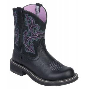 Ariat Fatbaby II Western Boot - Ladies - Black Deer Tan
