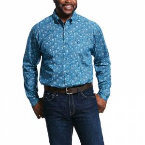 Ariat Mens Ridgecrest Print Classic Fit Long Sleeve Shirt