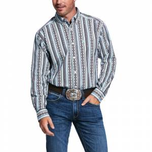 Ariat Mens Ripon Print Stretch Classic Fit Long Sleeve Shirt