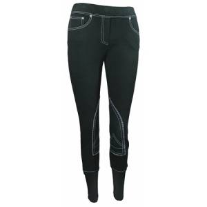 TuffRider Ladies Newbury Pull On Riding Jeans with Contrast