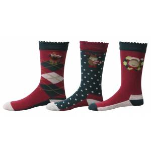 Tuffrider Kids Holly Socks - 3 Pack