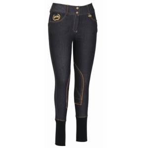 Equine Couture Ladies Bobbi Denim Riding Breeches