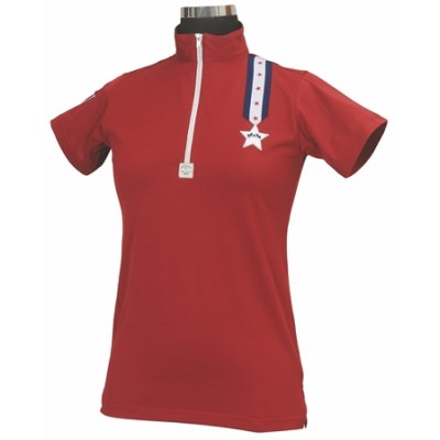 Equine Couture Stars & Stripes Short Sleeve Polo - Ladies