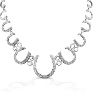 Kelly Herd Multi Horseshoe Necklace - Sterling Silver